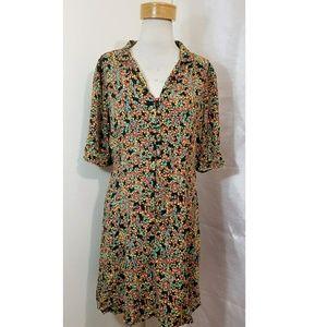 Floral shift dress.